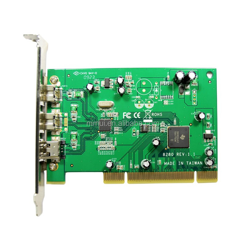 IOCREST 3-port (1 1394A and 2 1394B) PCI card,TI8280 chipset