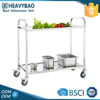 Quick Lead Knocked-down Stainless Steel Serving Cart Types Of Service Prices Trolley