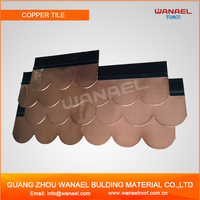 Guangzhou Construction Material Wanael Fish Scale Asphalt Roof Copper Shingles