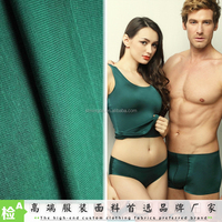 China OEM factory Wholesale knit jersey 91% cotton 9% spandex / lycra fabric for underwear