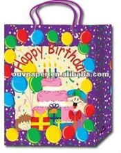 various paper gift bags birthday packaging