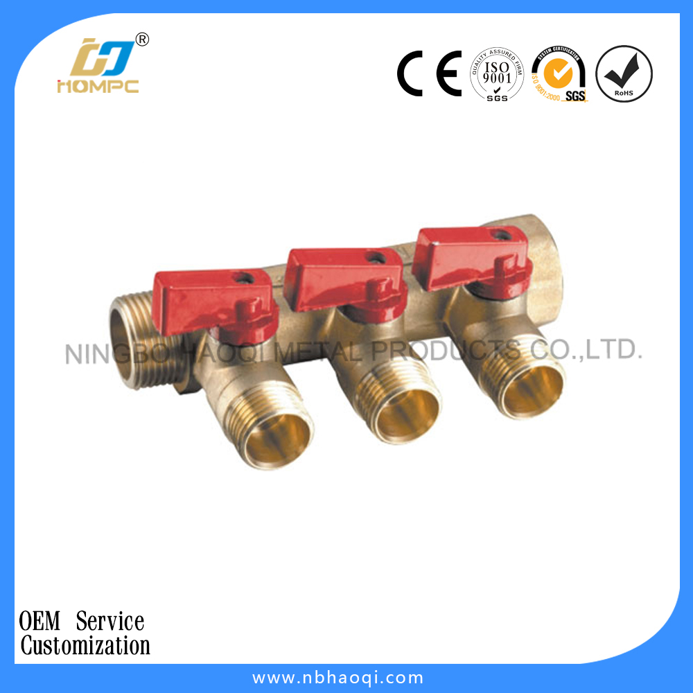 brass water manifold valves for underfloor heating