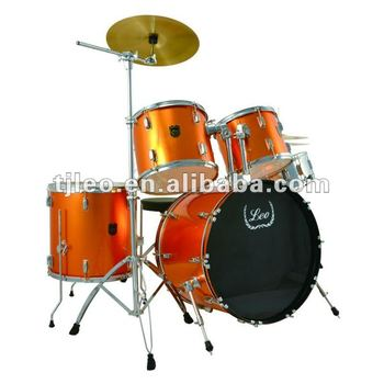 New Orange Color 5 Pieces L-2700 Drum kit