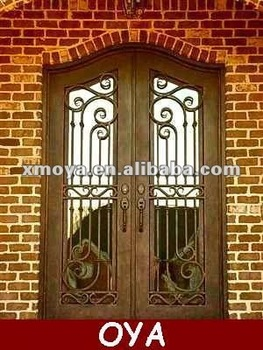 Frosted insulated glass french metal door exterior buy for Insulated double doors