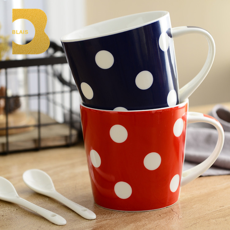 ceramic tableware ceramic 425 ml mug with spoon fine china dinnerware