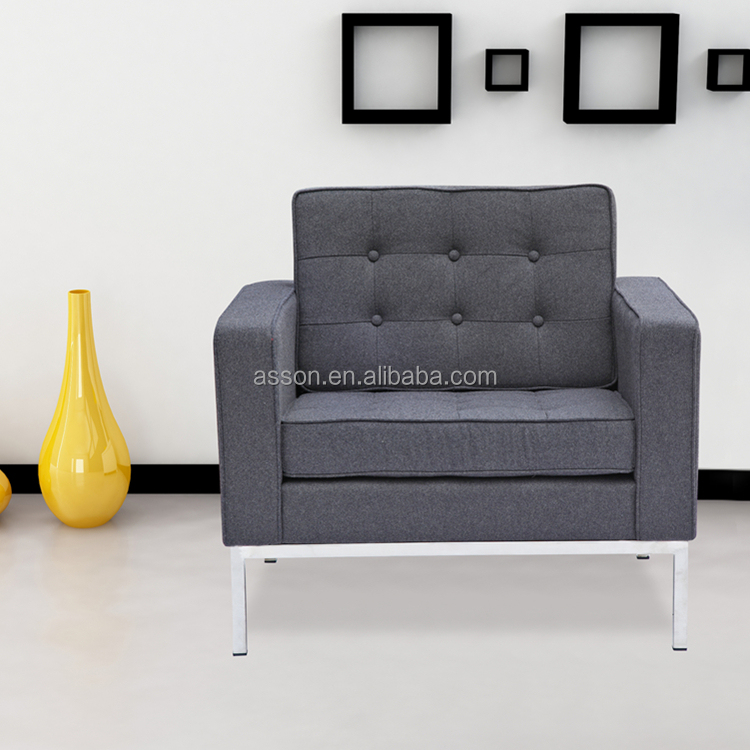 Replica Charcoal Gray Modern Florence Knoll Sofa Chair  1 Seat   Buy  Florence Knoll Sofa,Replica Florence Knoll Sofa,Florence Sofa Product On  Alibaba.com