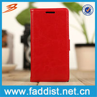 China Alibaba mobile flip cover for huawei ascend p6 with wallet