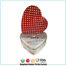 Perfect Wedding Heart Box Playing Card Container Tin Case