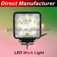rock-bottom price motorbike accessories latest released 7000K-9000K 8000K cold white off-road 27w led work light