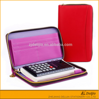 Office zipper lock office personal business organizer with calculator