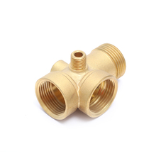 OEM &amp; ODM FxFxMxM Hexagon head Compression pump brass Tee forged Reducing Pump <strong>Fitting</strong>