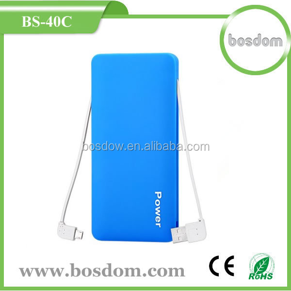 wholesale 4000mah universal <strong>portable</strong> built in cable power bank ebay