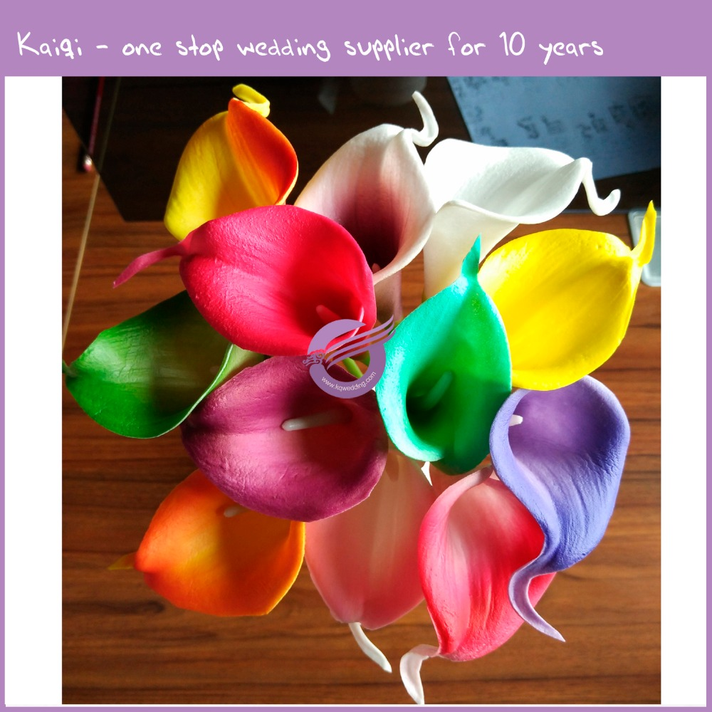 RH00020 good quality real touch artificial Calla lily for wedding use