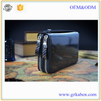 Made in China wholesale price business casual black multi money or card lots men wallet