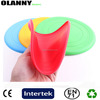 professional eco-friendly various colors flying disc silicon frisbee