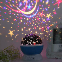 Star Master 360 Degree Rotation Kids Sky Starry Projector Night Light with 8 Multicolor