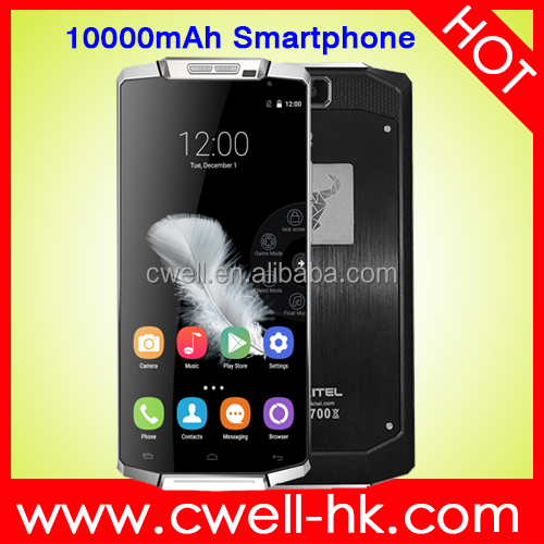 "Original Oukitel K10000 MTK6735P 1.0GHz Quad Core 5.5"" 1280*720 Screen Android 5.1 2GB/16GB 10000mAh Battery 4G LTE Mobile Phone"