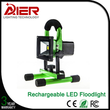 Aluminum partable outdoor 10W rechargeable led flood light