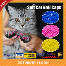 Summer Soild colour Cat Nail Caps/Cat Claw /Soft Silicone Pet Paws with free Adhesive Glue Size XS S M L Gift for pet