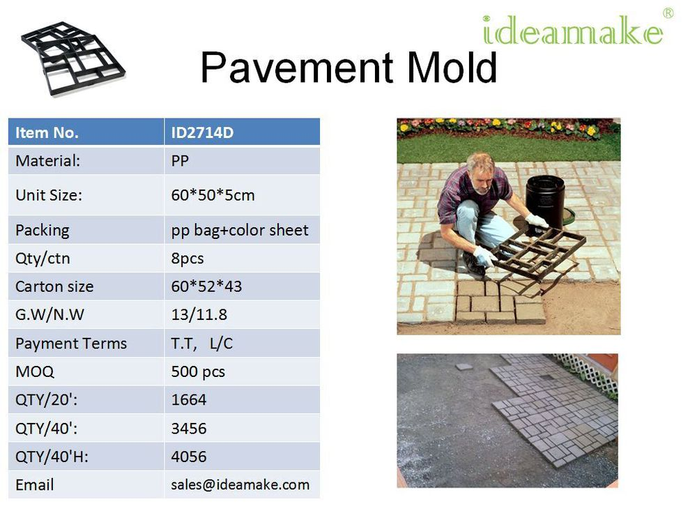 Garden Decor Plastic Concrete Pavement Mold Cobble Paving Block Mould Ornaments for sale South Africa