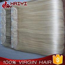 Full head Set 150g 18inch Clip In Human Hair Extension, Top Grade clip extension hair