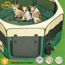 Dogs Cats Pets Portable Folding Waterproof Playpen With Mesh Cover Zipper Door For Indoor Outdoor Camping Traveling Use