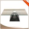 2016 latest clear tempered glass table