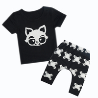Rompers Baby organic cotton Cartoon Little Fox Baby Boy Clothes Summer Newborn baby Clothes Y102