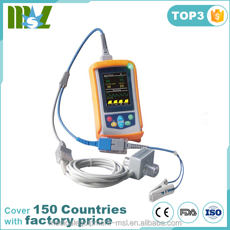 China Handheld Pulse Oximeter Veterinary Capnograph Monitor with Mainstream CO2