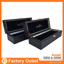 hot sell customizable fashional mini leather wine box