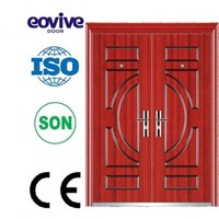 Competitive price lowes metal double doors exterior