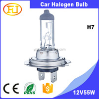 Auto bulb 12V 55w h7 halogen bulb for car