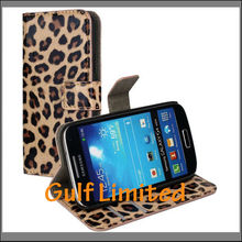 Luxury Leopard Leather Flip case for Samsung Galaxy S4 mini i9190