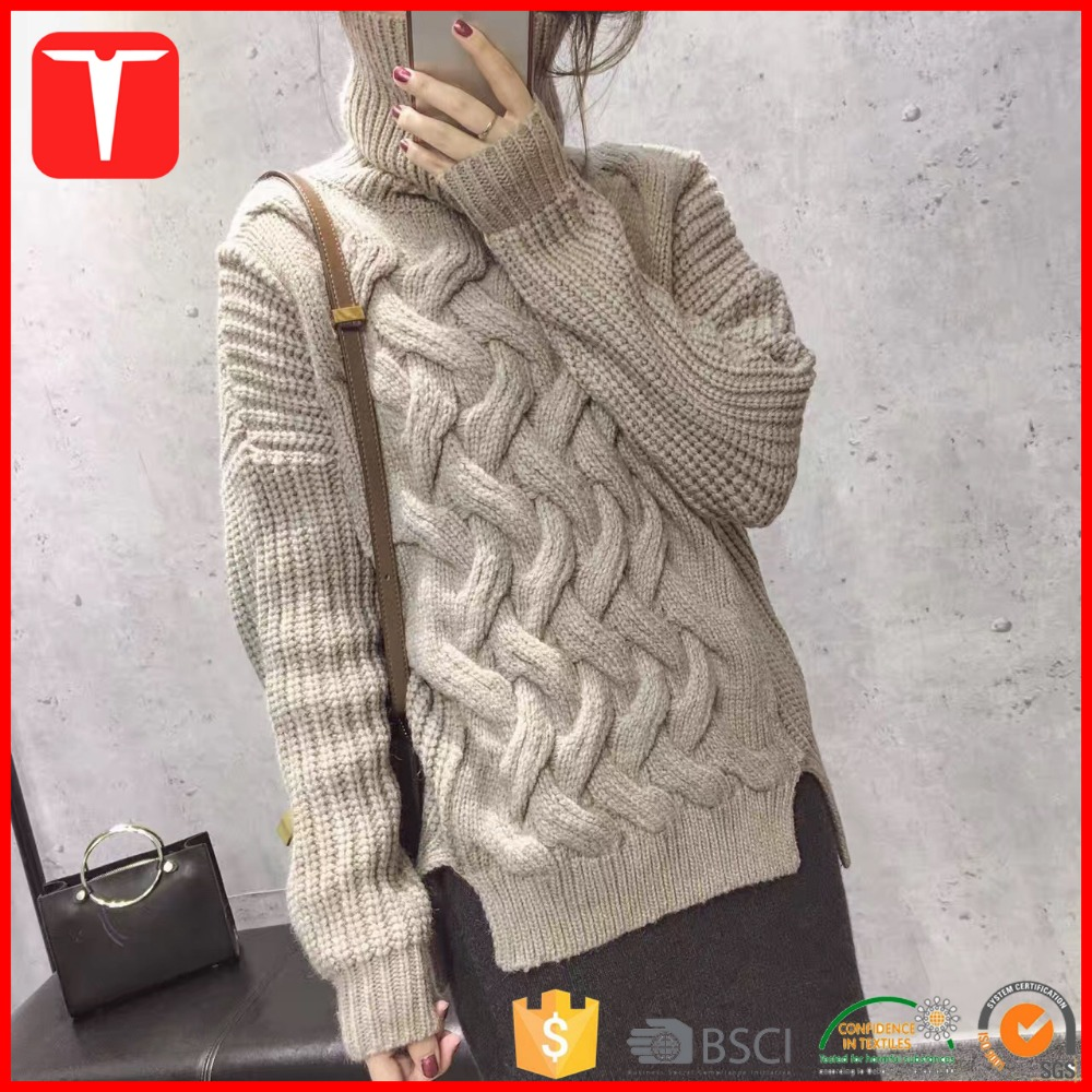 Heavy guage wool cable knit fabric sweater fabric