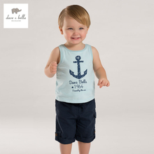 DB3798 dave bella summer boy shirts boutique outfits children's clothes girls T-shirt child cotton blouse baby top vest