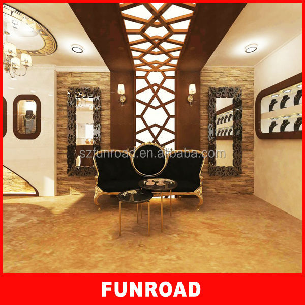 Creative Design Marble Exhibition Jewelry Display Interior Ideas Jewellery Shops
