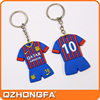 T-shirt shape promotional soft PVC key chain/personalized logo plastic keyring