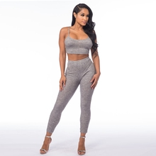 Cheap Sexy Bodycon Bandage Two-piece Jumpsuits for Women 7410