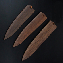 WB GHL-DK5210 Natural lumber wood knife sheath with cork different size and knife shape suitable