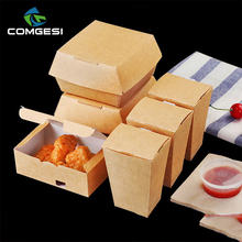 Hot sale custom made paper fast food chips fried chicken box packaging takeaway container