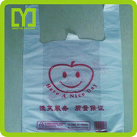 wholesale 2015 alibaba China hot selling plastic shopping bag for packaging ldpe t-shirt plastic bags