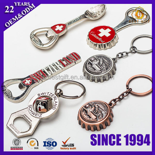 Various stainless steel keychain bottle opener fridge magnet