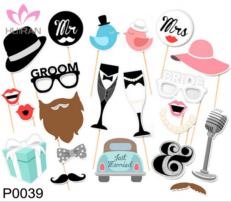 22pcs Wholesale Photo Booth Props Party Marriage Decoration Photo Props <strong>Wedding</strong>