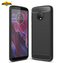 Case For Motorola Moto G6 Cell Phone Silicone Case For Moto G6 Carbon Fiber TPU Case