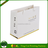 2015 Eco-friendly Recyclable New Design Promotional Logo Printed Art Paper Shopping Bag