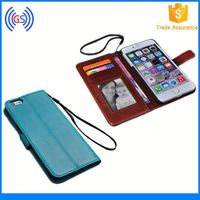 Hot! Fancy Fashion Clear ID Hole PU Leather Case for huawei y300