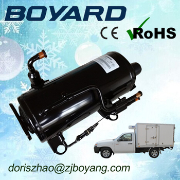 Zhejiang boyard ce rohs r404a r134a truck refrigeration compressor 1hp 1.5 hp QHD-23K for refrigerated cargo box food display