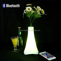 usb flash drive mp3 player vase led light bluetooth speaker with remote control