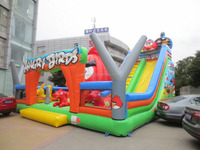 2015 new high quality inflatable fun city about cartoon theme/combo/bouncer