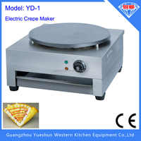 Guangdong single Plate Electric Crepe Maker/Double Crepe Machine/crepe pancake maker
